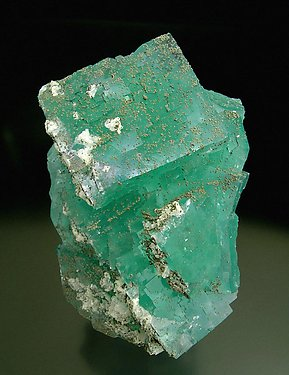 Fluorite with Pyrite and Calcite.