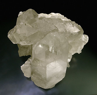 Quartz (variety smoky and gwindel). Top
