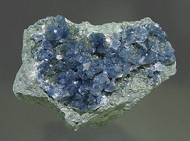 Blue Quartz with Magnesioriebeckite inclusions.