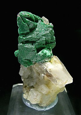 Chalcopyrite with Malachite and Dolomite.