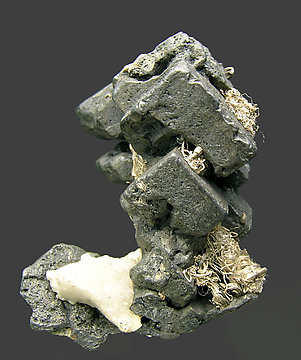 Acanthite with Silver. Front