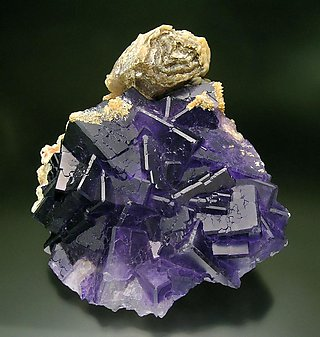 Fluorite with Calcite.