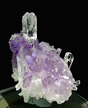 Danburite with Quartz (variety amethyst).