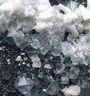 Hematite, Fluorite, Dolomite and Quartz.