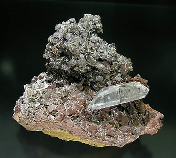 Quartz on Siderite.