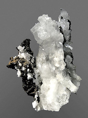 Descloizite with Calcite. Rear