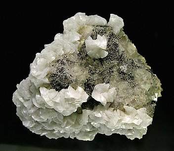 Fluorite with Dolomite, Sphalerite and Pyrite.