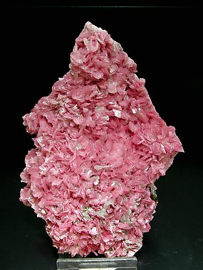 Rhodonite with Calcite, Pyrrhotite and Pyrite.