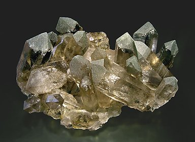 Smoky Quartz with Chlorite. Side