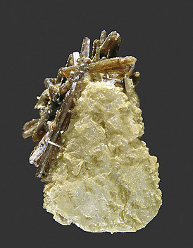 Ruifrancoite on Beryllonite and with Childrenite. Side