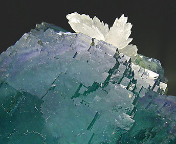 Fluorite with Calcite, Pyrite and Siderite.