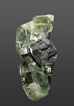 Fluorapatite with Ferberite and Muscovite. Side