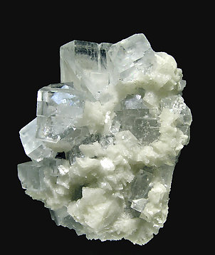 Fluorite with Dolomite and Sphalerite.