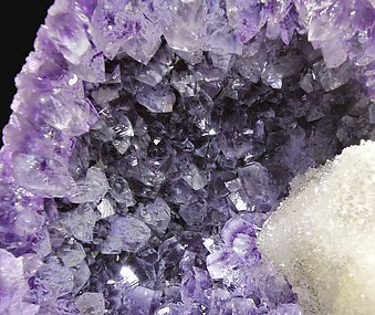 Calcite with Quartz (variety amethyst).