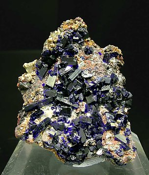 Azurite with Cerussite.