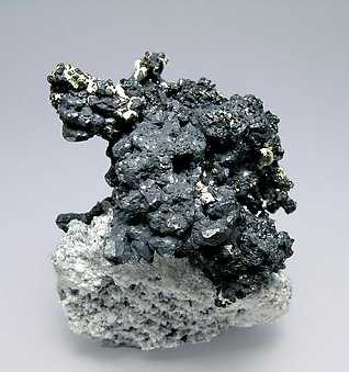 Acanthite with Silver. Side