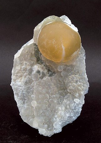 Fluorite on Quartz with Opal.