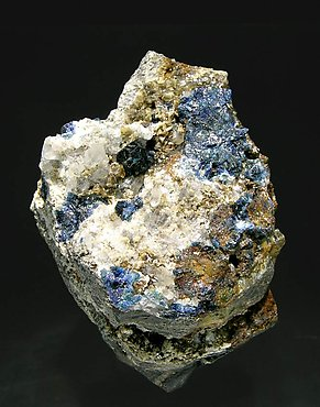 Lazulite with Siderite and Quartz.