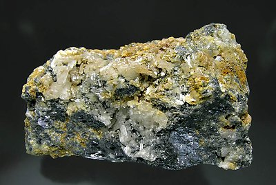 Cerussite with Galena. Front