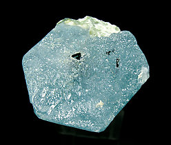 Beryl (variety aquamarine) with Albite and Schorl. Bottom