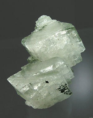 Orthoclase (variety adularia) with Chlorite and Hematite. Front