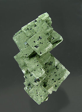 Orthoclase (variety adularia) with Chlorite and Hematite. Side