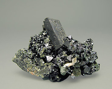 Allanite (Group) with Magnetite and Epidote.