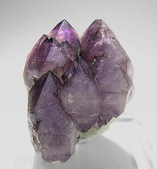Quartz (variety amethyst) with smoky Quartz and Microcline.