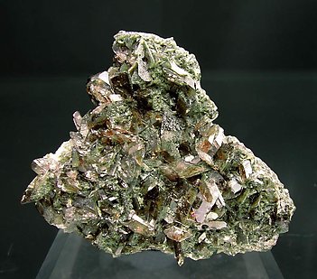 Axinite-(Fe) with Albite and Chlorite.