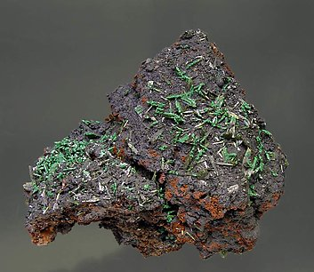 Olivenite with Malachite.