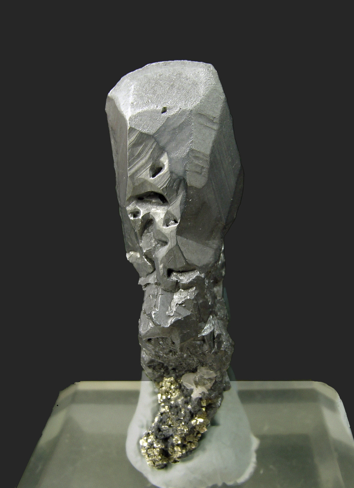 Acanthite with Pyrite