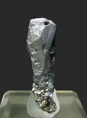 Acanthite with Pyrite. Rear