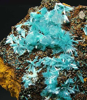 Aurichalcite with Limonite.