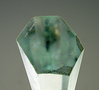 Beryl (variety aquamarine) with Albite and Muscovite. Top