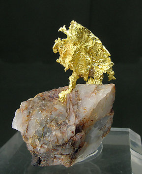 Gold on Quartz. Rear