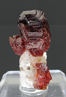 Spessartine with Quartz.