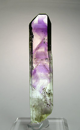 "Quartz (variety amethyst) ""phantom"". Rear"
