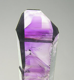 "Quartz (variety amethyst) ""phantom"". Top"