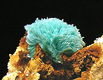 Aurichalcite with Quartz.