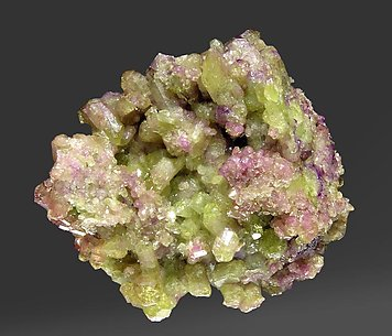 Vesuvianite with Diopside. Rear