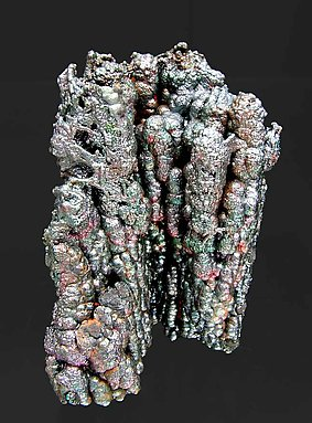 Iridescent Goethite. Rear