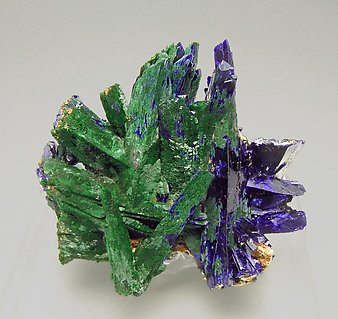 Azurite with Malachite after Azurite.