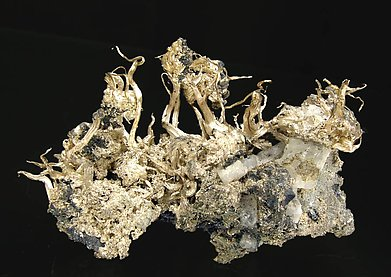 Silver with Acanthite. Front