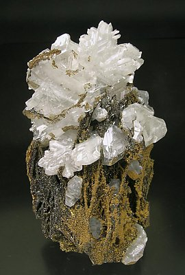 Cerussite on Quartz.