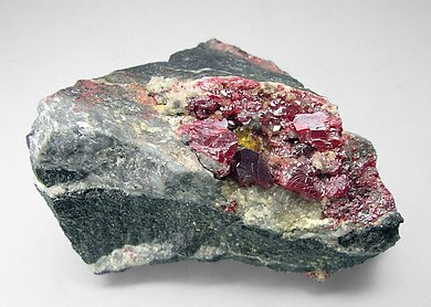 Cinnabar with Baryte.