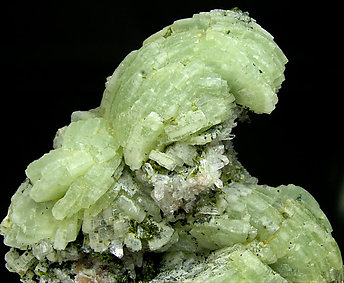 Prehnite with Epidote, Quartz and Clinochlore.