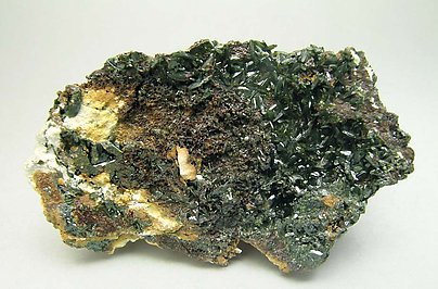Olivenite with Pitticite.