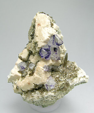 Fluorite with Quartz and Microcline.
