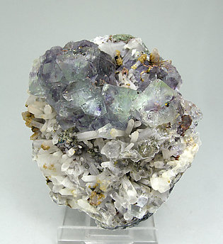 Fluorite with Quartz, Chalcopyrite and Siderite.
