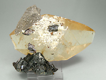Doubly terminated Calcite with Sphalerite. Rear
